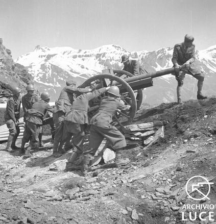 Postazione italiana sul fronte francese