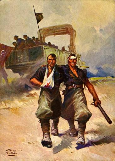 Celebrazione dello squadrismo in una pubblicazione di propaganda fascista (Immagine tratta da www.storiatifernate.it)